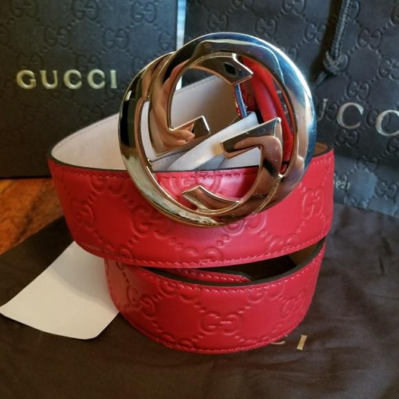 34dd95a9094 👖Authentic Gucci Belt Red Guccissima Supreme